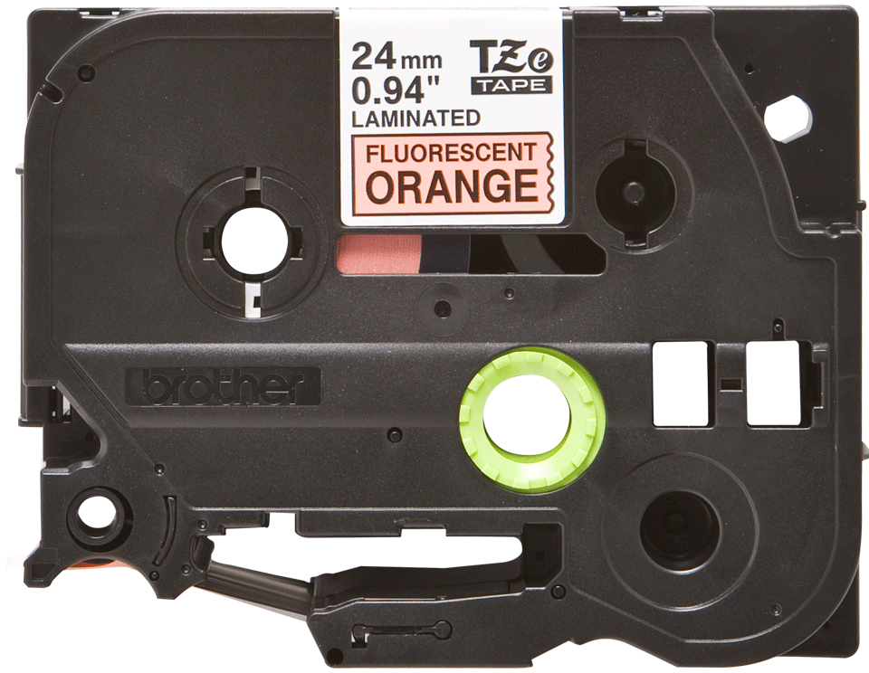 Cassette à ruban pour étiqueteuse TZe-B51 Brother originale – Orange fluorescent, 24 mm de large