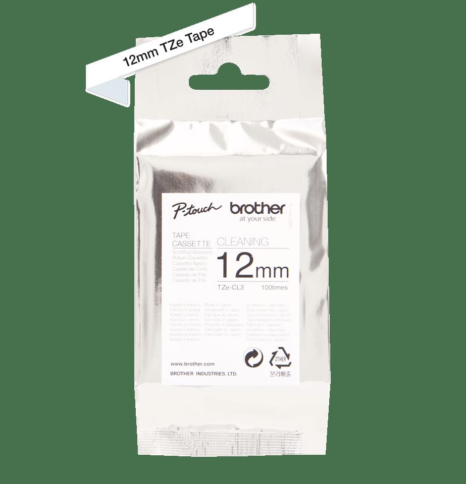 Cassette à ruban pour nettoyage de tête d'impression TZe-CL3 Brother originale – 12mm de large 2