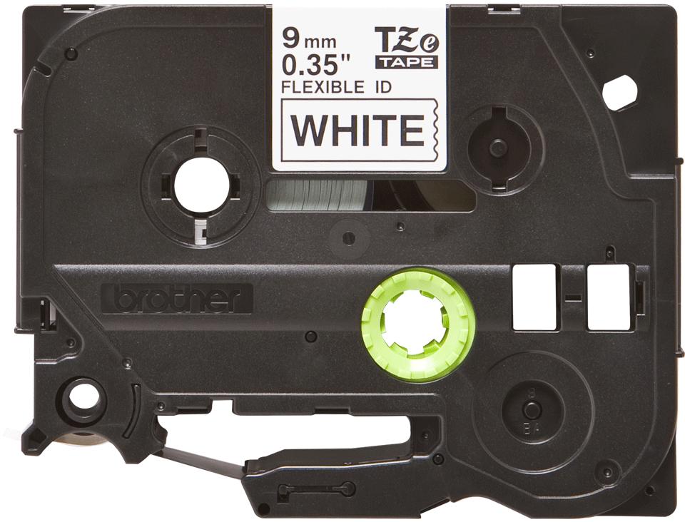 Original TZe-FX221 Flexi-Schriftbandkassette von Brother – Schwarz auf Weiß, 9mm breit