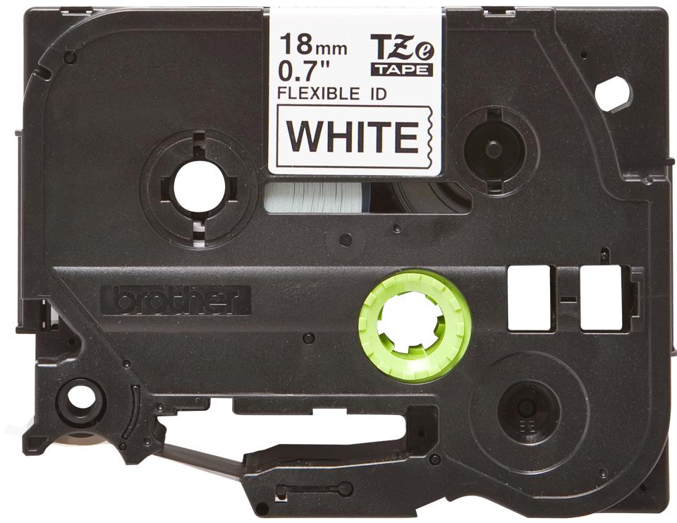 Original TZe-FX241 Flexi-Schriftbandkassette von Brother – Schwarz auf Weiß, 18mm breit