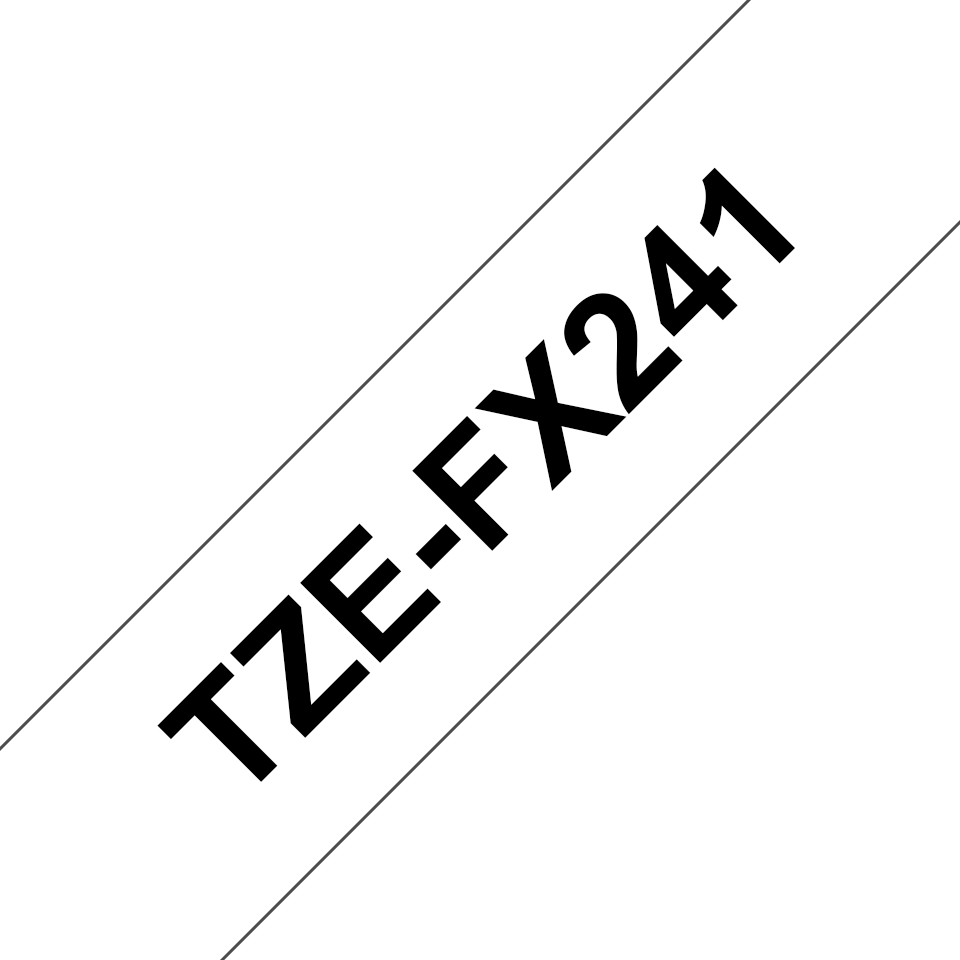 Original TZe-FX241 Flexi-Schriftbandkassette von Brother – Schwarz auf Weiß, 18mm breit 3