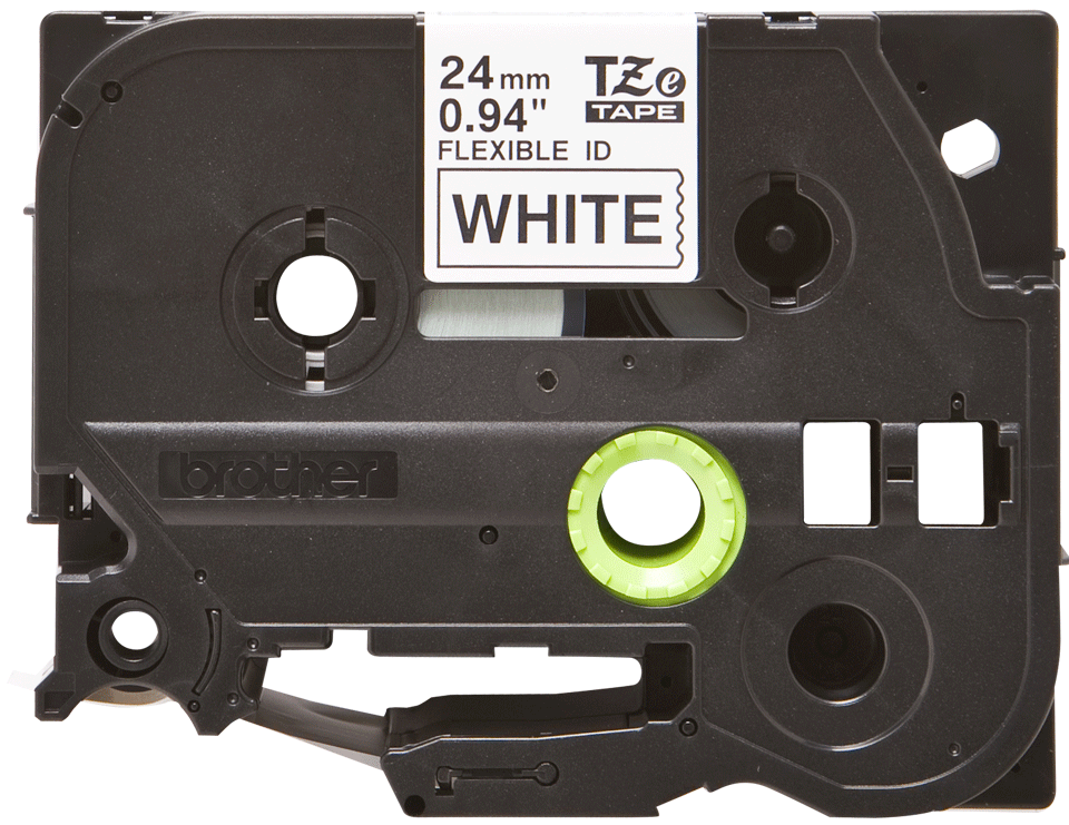 Original TZe-FX251 Flexi-Schriftbandkassette von Brother – Schwarz auf Weiß, 24mm breit