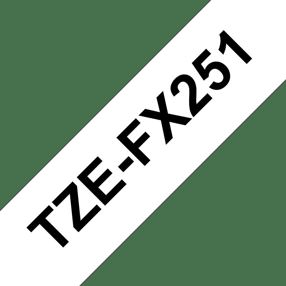Original TZe-FX251 Flexi-Schriftbandkassette von Brother – Schwarz auf Weiß, 24mm breit 3