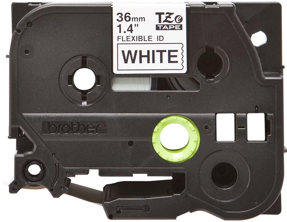 Original TZe-FX261 Flexi-Schriftbandkassette von Brother – Schwarz auf Weiß, 36mm breit