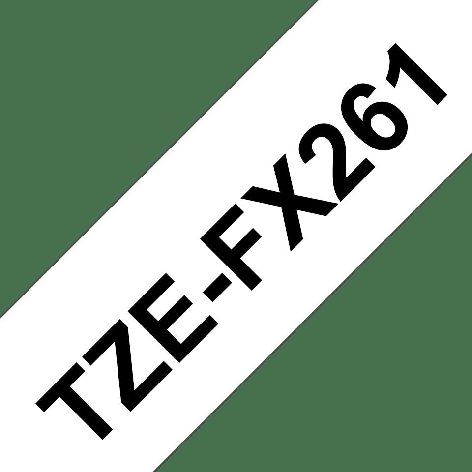 Original TZe-FX261 Flexi-Schriftbandkassette von Brother – Schwarz auf Weiß, 36mm breit 3