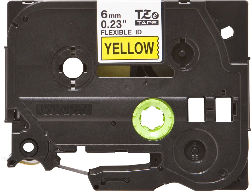 Cassette à ruban pour étiqueteuse TZe-FX611 Brother originale – Noir sur jaune, 6mm de large
