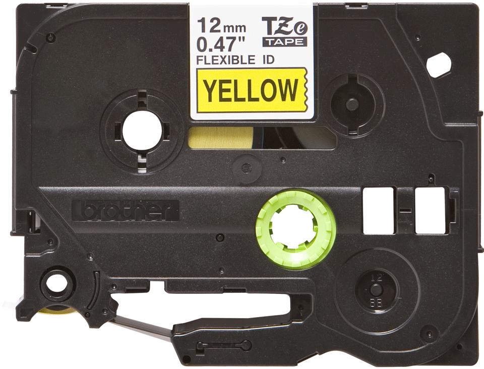 Original TZe-FX631 Flexi-Schriftbandkassette von Brother – Schwarz auf Gelb, 12mm breit