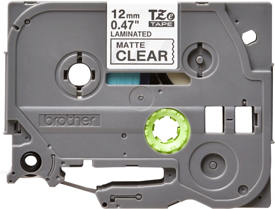 Original TZe-M31 Schriftbandkassette von Brother – Schwarz auf Transparent, matt, 12mm breit