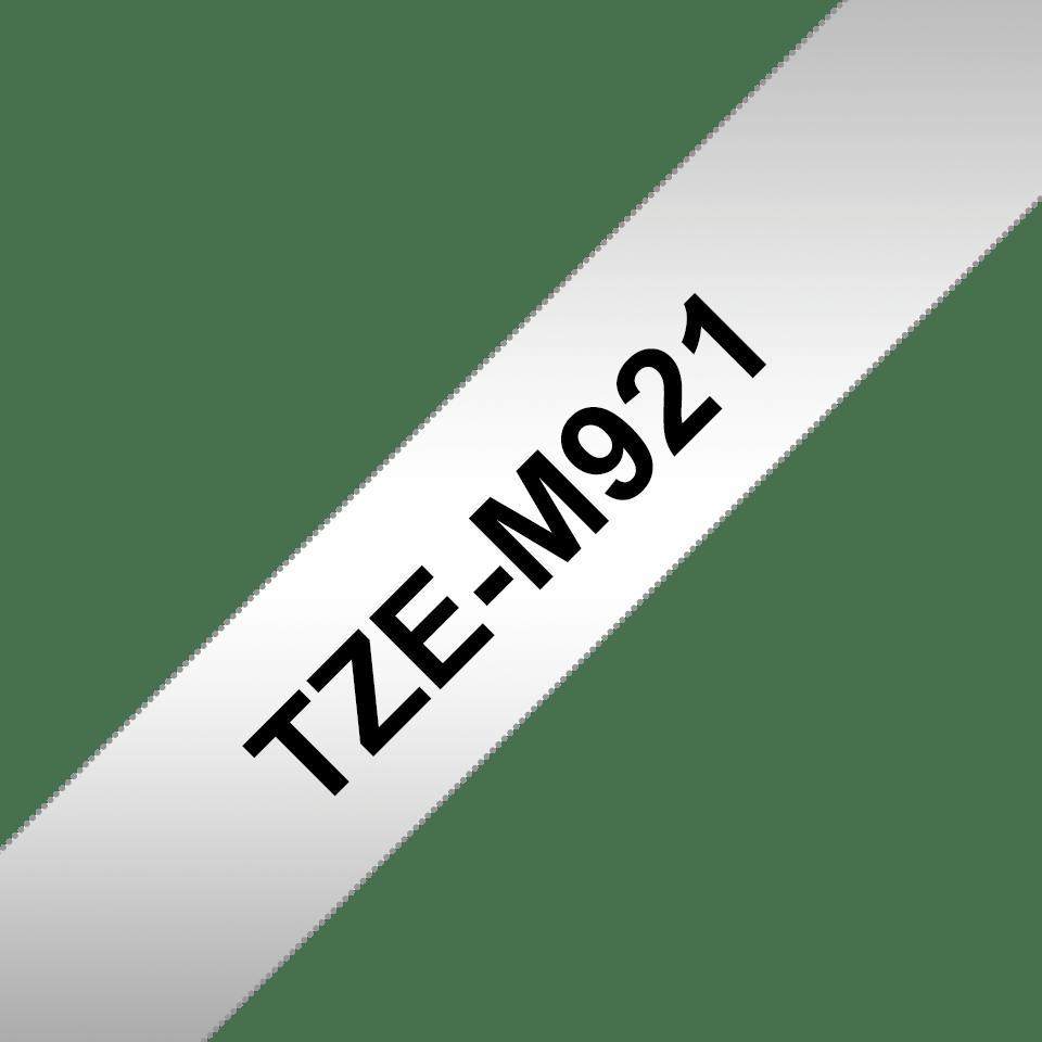 Original TZe-M921 Schriftbandkassette von Brother – Schwarz auf Mattsilber, 9mm breit 3