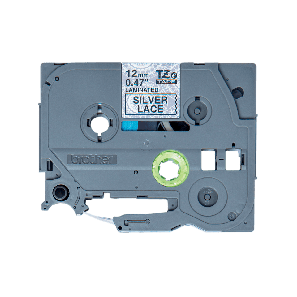 Cassette à ruban pour étiqueteuse TZe-MPSL31 Brother originale – Noir sur motifs dentelle argent, 12mm de large