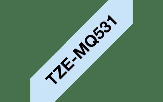 Original TZe-MQ531 Schriftbandkassette von Brother – Schwarz auf Pastellblau, 12mm breit 3