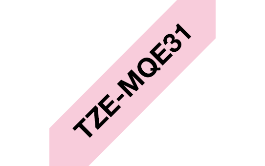 Original TZe-MQE31 Schriftbandkassette von Brother – Schwarz auf Pastellrosa, 12mm breit 3