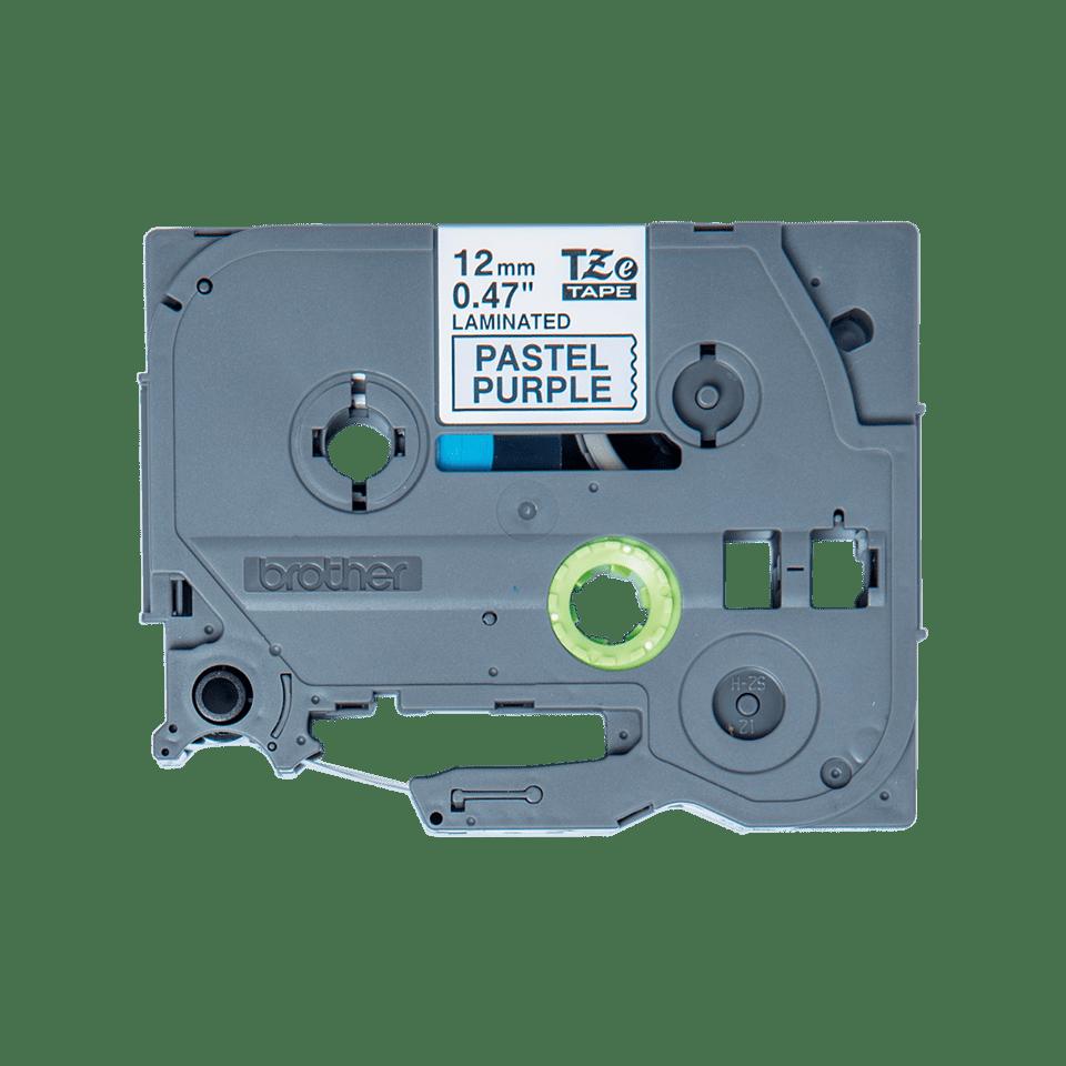 Original TZe-MQF31 Schriftbandkassette von Brother – Schwarz auf Pastelllila, 12mm breit