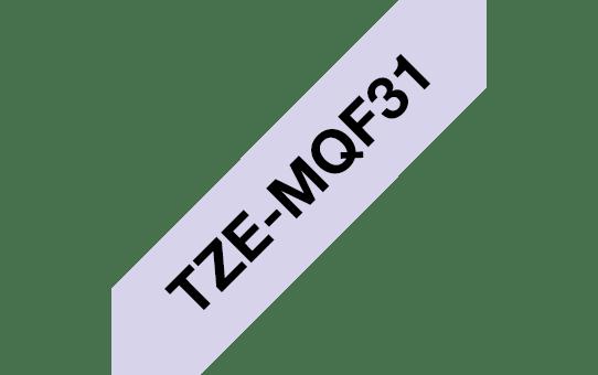 Original TZe-MQF31 Schriftbandkassette von Brother – Schwarz auf Pastelllila, 12mm breit 3