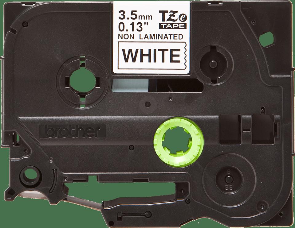 Original TZe-N201 Schriftbandkassette von Brother – Schwarz auf Weiß, 3,5mm breit