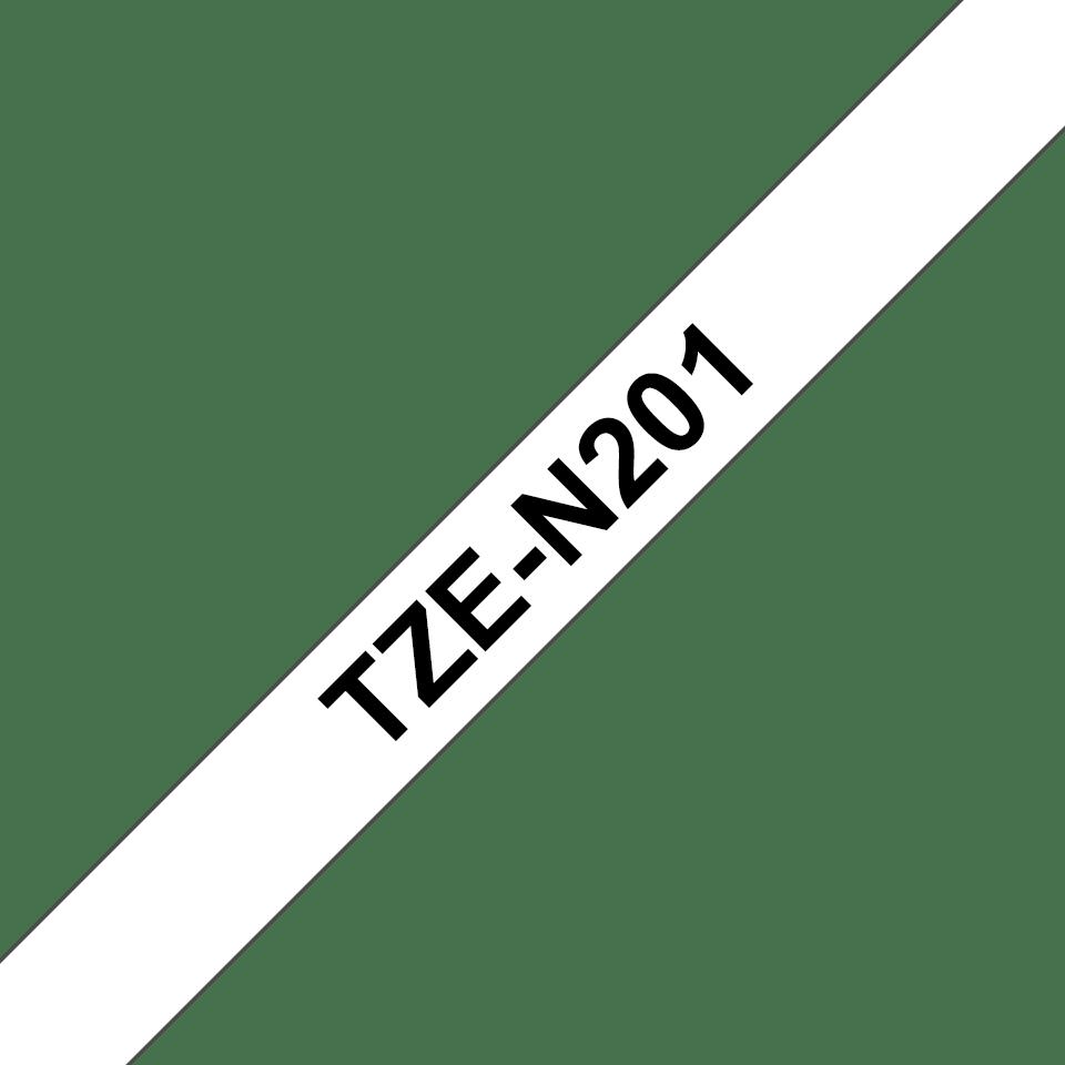 Original TZe-N201 Schriftbandkassette von Brother – Schwarz auf Weiß, 3,5mm breit 3