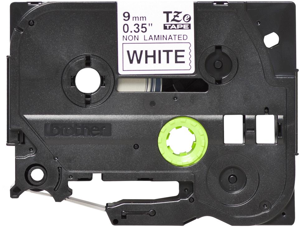 Original TZe-N221 Schriftbandkassette von Brother – Schwarz auf Weiß, 9mm breit