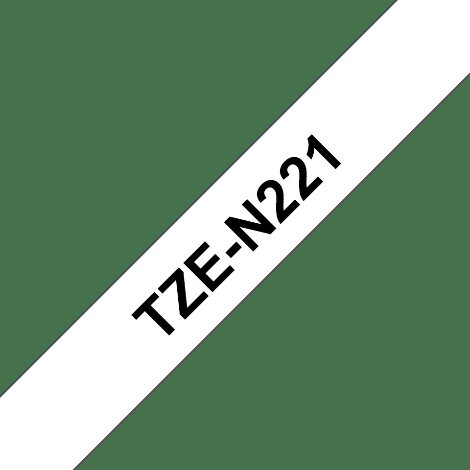 Original TZe-N221 Schriftbandkassette von Brother – Schwarz auf Weiß, 9mm breit 3