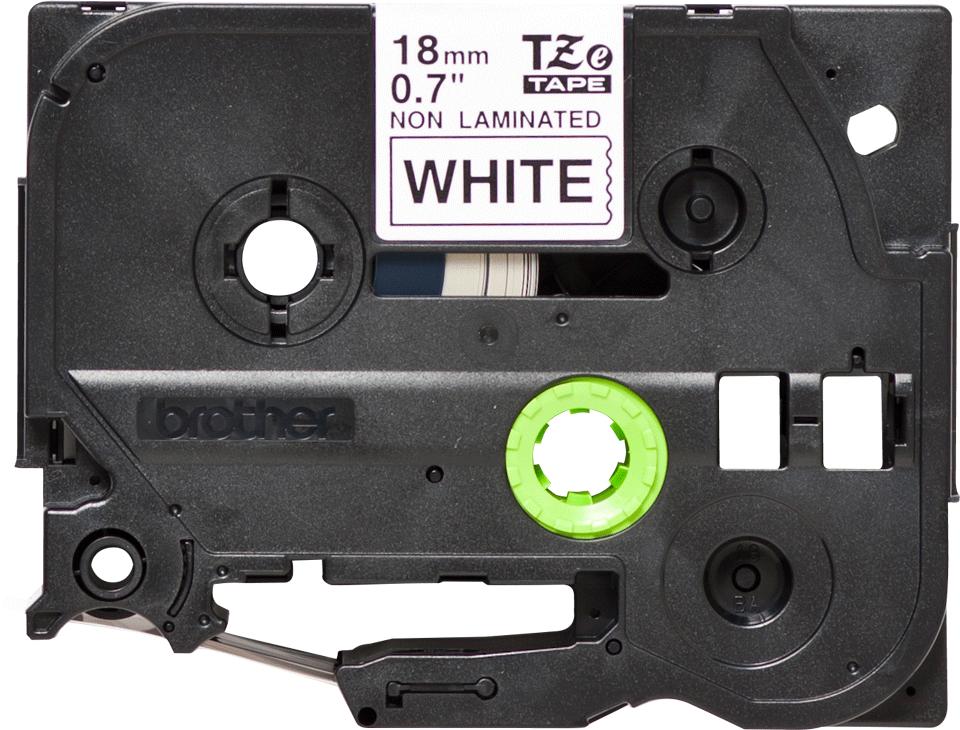 Original TZe-N241 Schriftbandkassette von Brother – Schwarz auf Weiß, 18mm breit