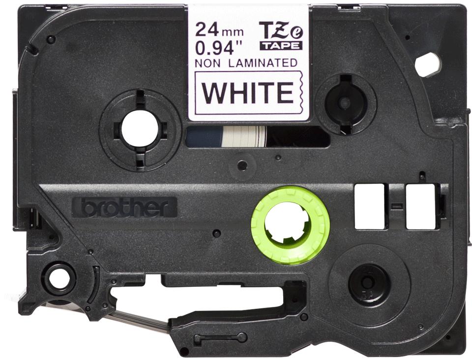 Original TZe-N251 Schriftbandkassette von Brother – Schwarz auf Weiß, 24mm breit