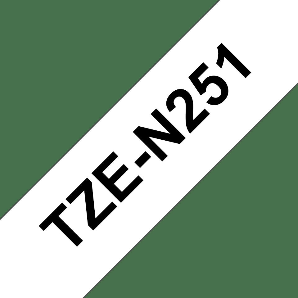 Original TZe-N251 Schriftbandkassette von Brother – Schwarz auf Weiß, 24mm breit 3