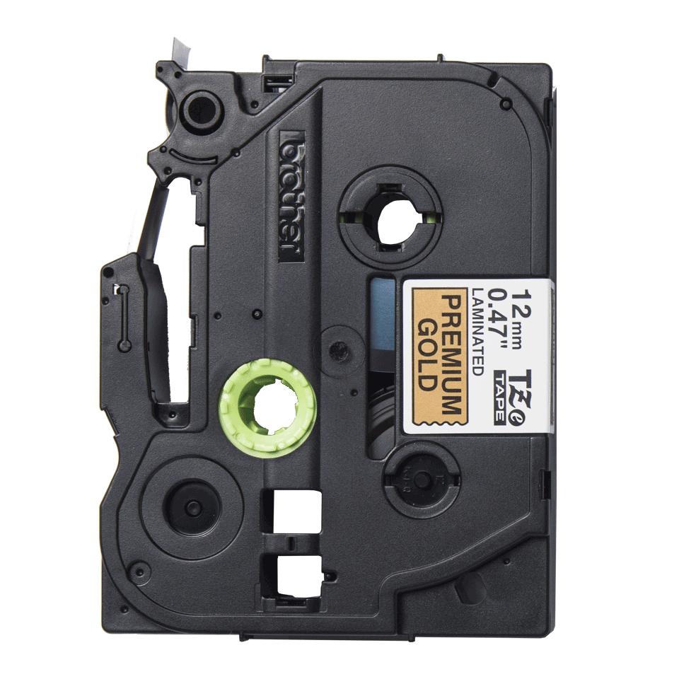 Cassette à ruban d'étiquette TZe-PR831 Brother originale – noir sur or premium, 12 mm de large