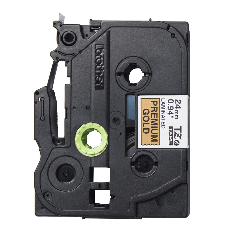 Cassette à ruban d'étiquette TZe-PR851 Brother originale – noir sur or premium, 24 mm de large
