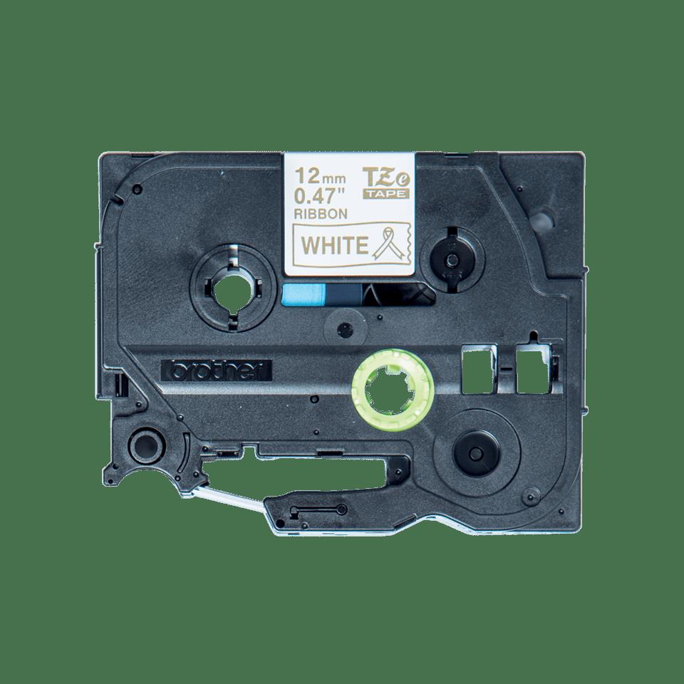 Original TZe-R234 Textilbandkassette von Brother – Gold auf Weiß, 12mm breit