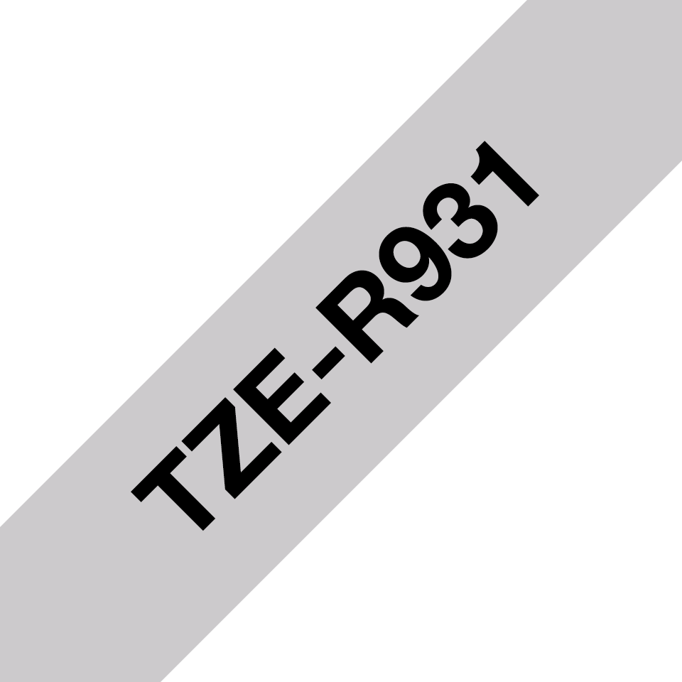 Cassette à ruban P-touch TZe-R931 Brother originale, noir sur argent, 12 mm de large