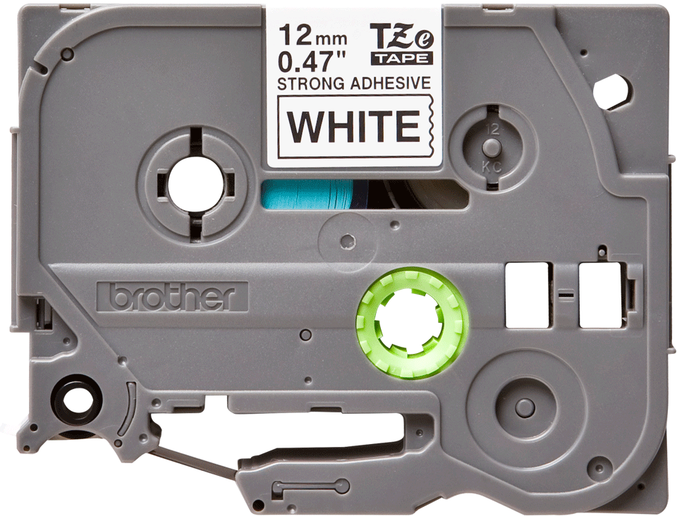 Original TZe-S231 Schriftbandkassette von Brother – Schwarz auf Weiß, extra-stark haftend, 12 mm breit