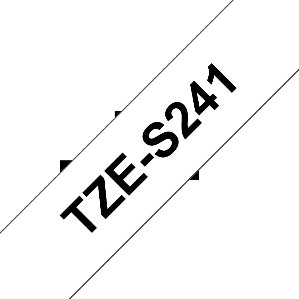 Cassette à ruban pour étiqueteuse TZe-S241 Brother originale – Noir sur blanc, 18mm de large 3