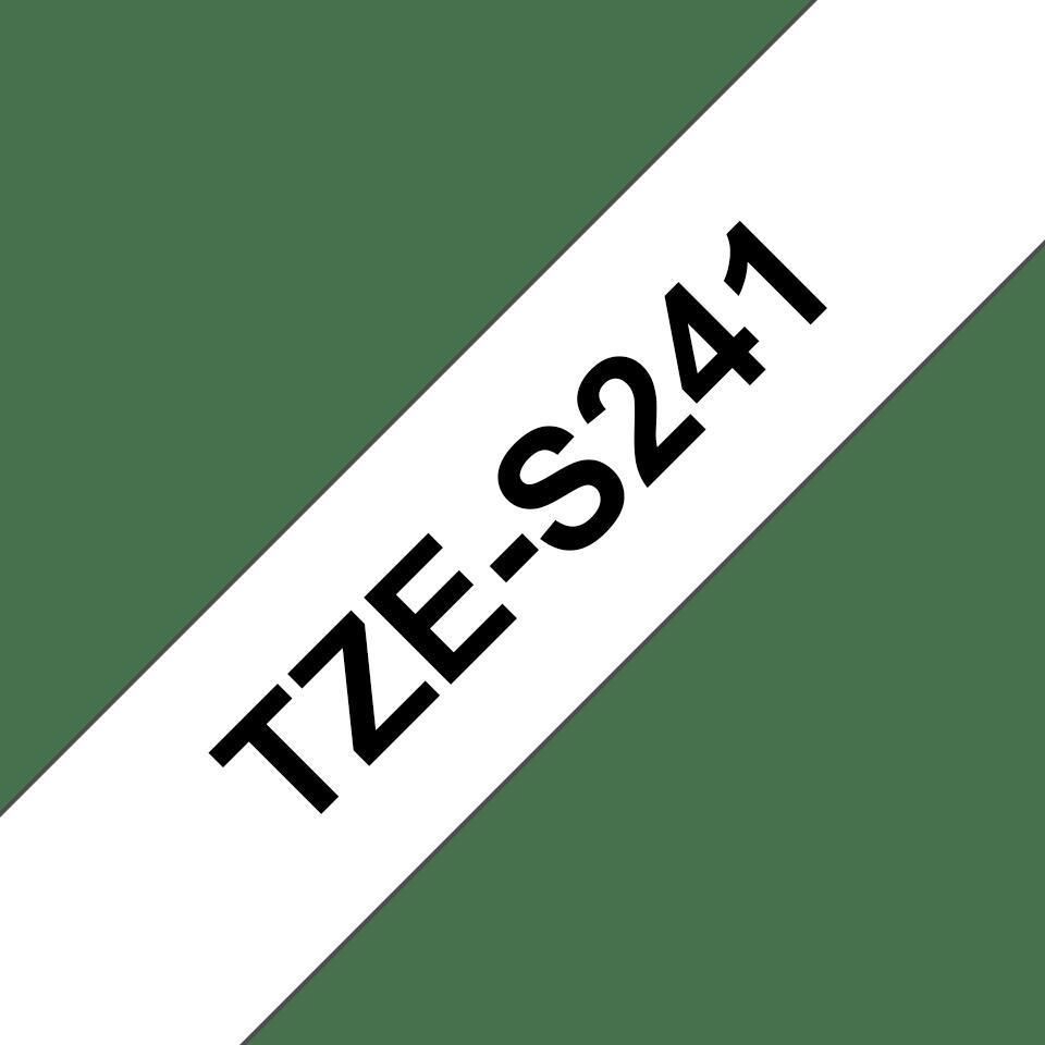 Original TZe-S241 Schriftbandkassette von Brother – Schwarz auf Weiß, 18mm breit