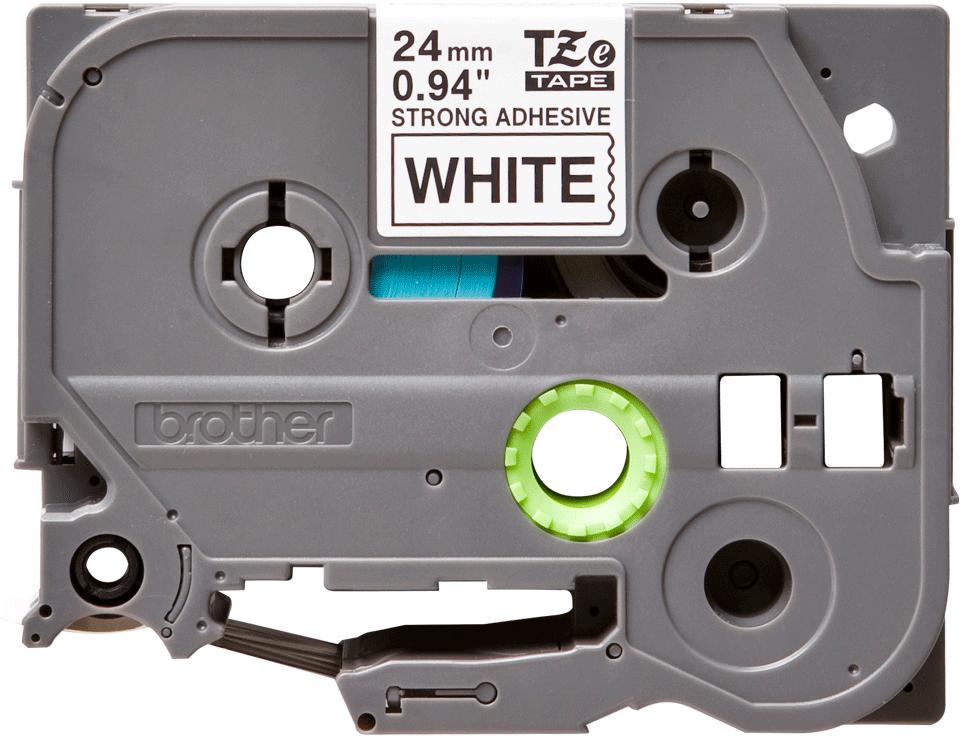 Original TZe-S251 Schriftbandkassette von Brother – Schwarz auf Weiß, 24mm breit