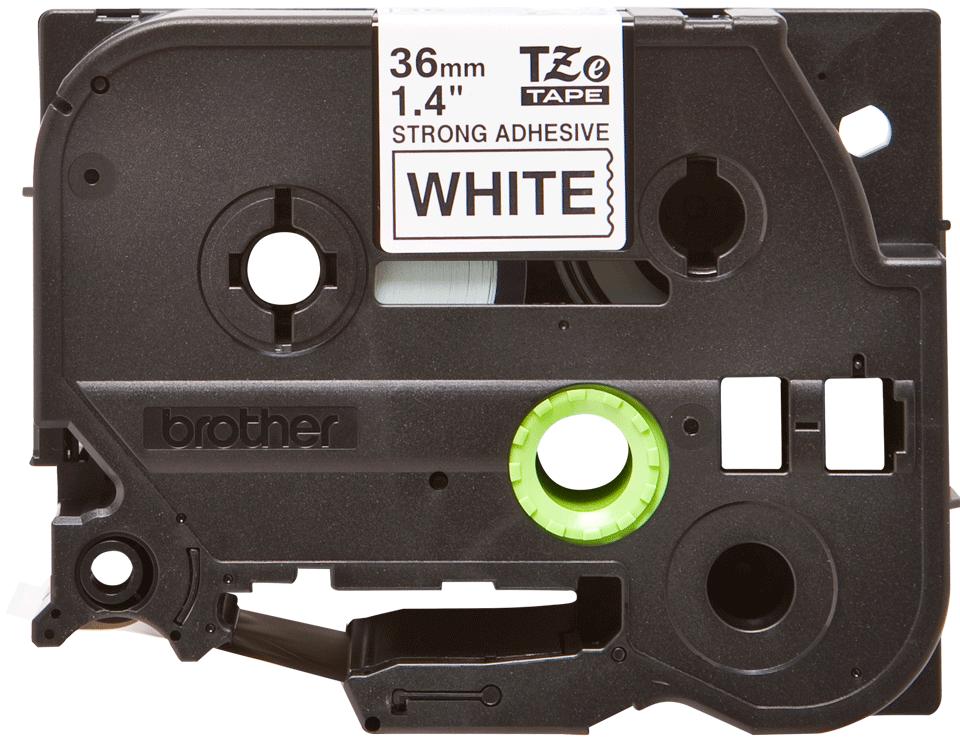 Cassette à ruban pour étiqueteuse TZe-S261 Brother originale – Noir sur blanc, 36mm de large