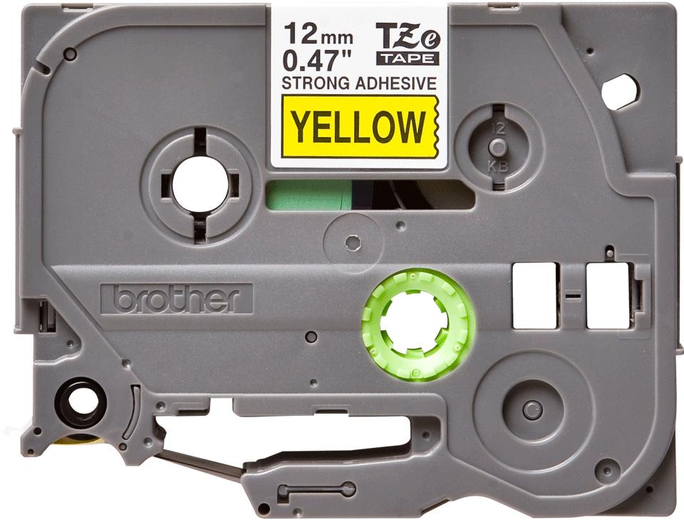 Cassette à ruban pour étiqueteuse TZe-S631 Brother originale – Noir sur jaune, 12mm de large