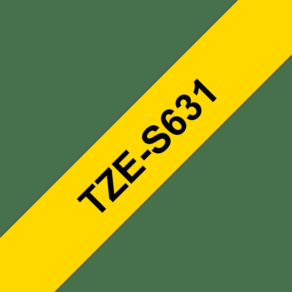Cassette à ruban pour étiqueteuse TZe-S631 Brother originale – Noir sur jaune, 12mm de large 3
