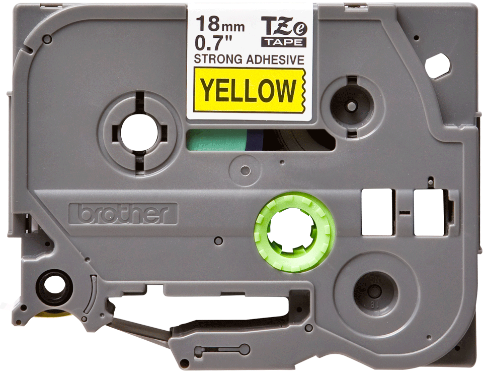 Original TZe-S641 Schriftbandkassette von Brother – Schwarz auf Gelb, 18mm breit
