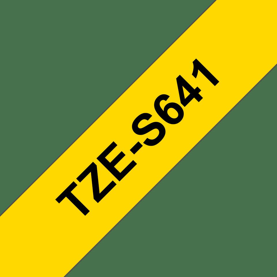 Original TZe-S641 Schriftbandkassette von Brother – Schwarz auf Gelb, 18mm breit 3