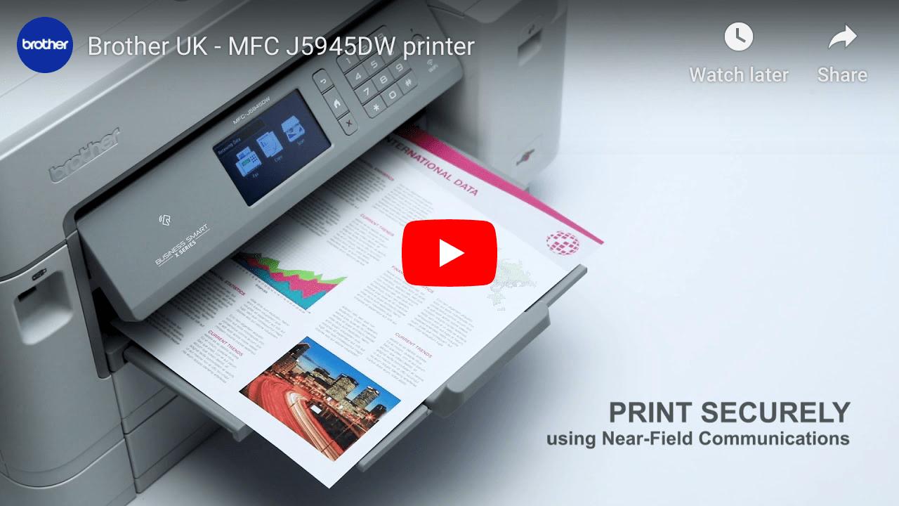 MFC-J5945DW Imprimante jet d'encre couleur A3 4-en-1 sans fil 7