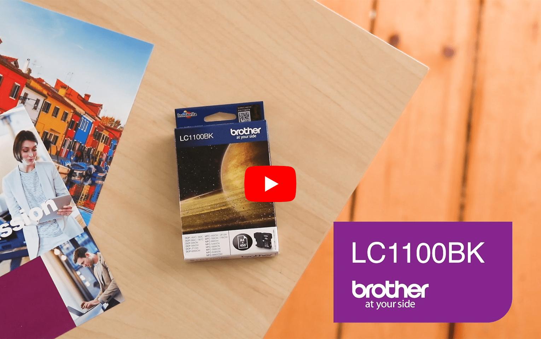 Original LC-1100BK Tintenpatrone von Brother – Schwarz 6